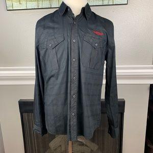 Affliction Black Premium Long Sleeve Shirt sz XL